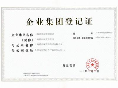 淞江(集团)企业登记证书